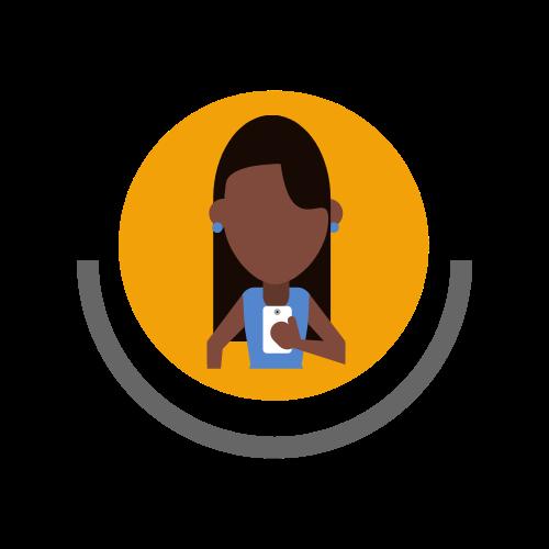 An African female entrepreneur icon