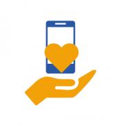 Phone donation symbol
